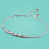 Sterling silver ankle bracelets - Lady 925 Sterling Silver Anklets Concise Style Round Bead Chain Women's Body Jewelry