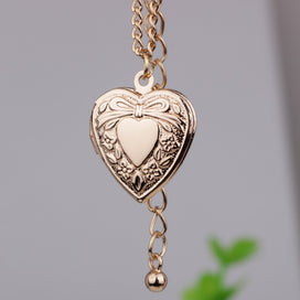 Heart locket necklace - Bow-knot Photo Frame Heart Pendant Necklace Creative Can Put Photo Open And Close Necklaces Jewelry