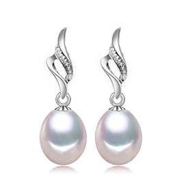 White pearl earrings - Pearl Earrings Long Earrings Drop White Pearl Earrings For Women Wedding Fine Jewelry