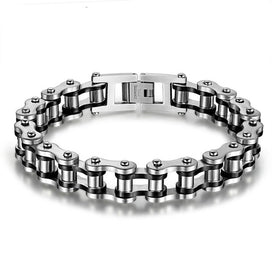 316L Stainless Steel Cool Men Jewelry Bicycle Motorcycle Biker Chain Bracelets & Bangles Fashion 4 Color For Women Men Lovers