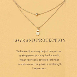 Charm necklace chain - 1pc Fashion Minimalist Love Charms Links Chains Hamsa Hand Choker Necklaces Pendants Women Statement