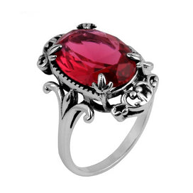 Vintage ruby rings - Antiques 925 Jewelry Fashion Vintage Women Red Ruby Rings Genuine 925 Sterling Silver
