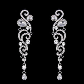 Bridal chandelier earrings - Crystal Wedding Earrings For Bridesmaid Silver Long Earrings For Women Bridal Fashion Jewelry
