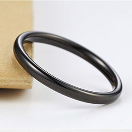 Wedding bands for women - 2mm Black Titanium Rings For Men Women Finger