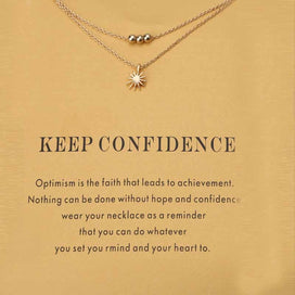 Charm necklace chain - 1pc Fashion Simple Multi-layer Sun Charms Wish Card Choker Necklaces Pendants Links Chains Gold Plate