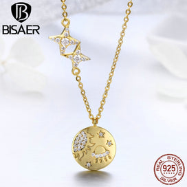 Sterling silver coin necklace - 925 Sterling Silver Pendant Necklaces Gold Color Coin Medallion Necklace Pendants Women