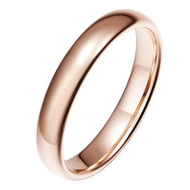 Anniversary rings for her - 4mm Vintage Rose Gold Tungsten Carbide Wedding Ring For Women Solid Lover's Engagement Rings