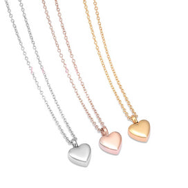 Charm necklace chain - 13mm Blank Stainless Steel Small Heart Cremation Urn Charm Necklace Hold Ashes Keepsake Memorial For
