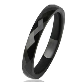 Wedding bands for women - 3 MM Light Black White Ceramic Rings For Women Smooth Cut Surface Ceramic Jewelry Ring Fashion Ring