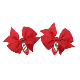 Hair bows for girls - 1 Pair Handmade Ribbon Barrettes Clips Boutique 3inch Girl Hair Bows With Clips Hairpins For Kids Hair