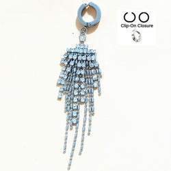 Titanium belly button rings - Fashion Sexy Titanium Steel Fake Navel Piercing Body Jewelry Belly Claw Chain Tassel Nail For