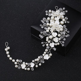 Hair bands for girls - Bride Headband Pearl Floral Jewelry Women Wedding Hair Band Handmade Decoration