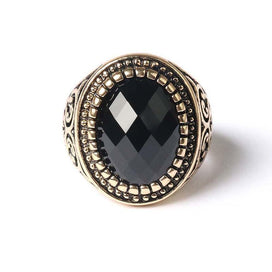 Black onyx rings for women - Big Opal Ring Vintage Palace Delicate Carved Stone Rings Multi-section Black Onyx Fashion Women