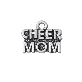 Charm necklace chain - 20pcs/lot CHEER MOM Word Charms For Necklace & Bracelets Handmade Crafts DIY Vogue Women Jewelry