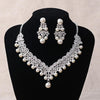Bridal jewellery set - Magnificent Pearl Wedding Bridal Jewelry Sets Women Bride Wedding Party Jewelry Accessories Tiara