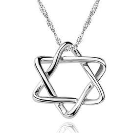 Star of david necklace silver - 925 Sterling Silver Star Of David Necklace Silver Jewish Hexagram Necklace Magen David Women