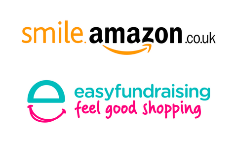 The Amazon Smile and EasyFundraising logos.