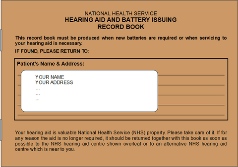 Example of an NHS Brown Book