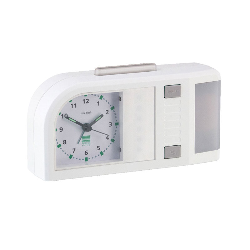 Time Flash Alarm Clock (White) (A-3140-0)