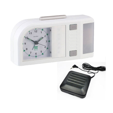 Time Flash Alarm Clock (A-3140-0) With Vibrating Pad (A-3303-0)