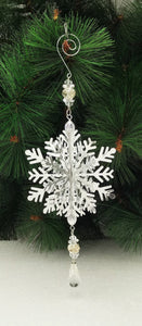 Silver Hanging 3D Snowflake
