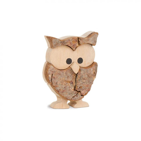 Wooden Cheeky Owl