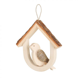 Wooden Bird House With Bird