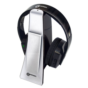 CL7400 Wireless Headphones on the transmitter/charging station