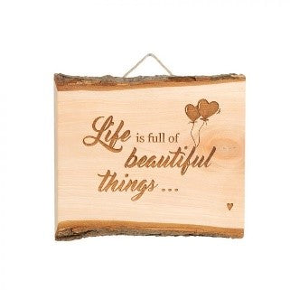 'Beautiful Things' Wooden Wall Hanging
