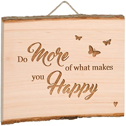 'Happy' Wooden Wall Hanging