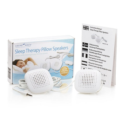 Sound Therapy Pillow Speakers (SP-101) with box and instruction manual