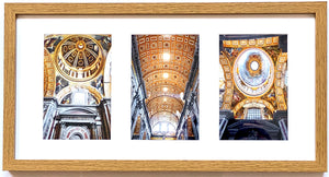 Ceiling of St. Peter's Basilica Triptych (Landscape Frame)