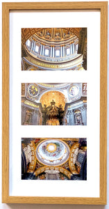 Ceiling of St. Peter's Basilica Triptych (Portrait Frame)