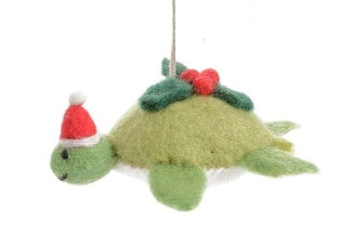 Felt Turtle with Holly