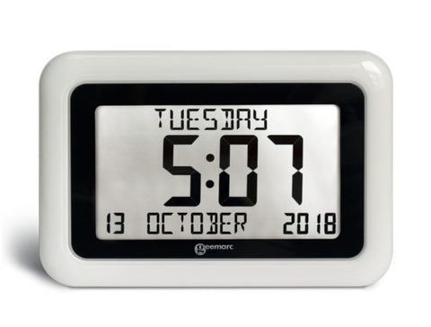 Front view of the Viso10 alarm clock