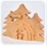 Plain Wood 3D Nativity Scene
