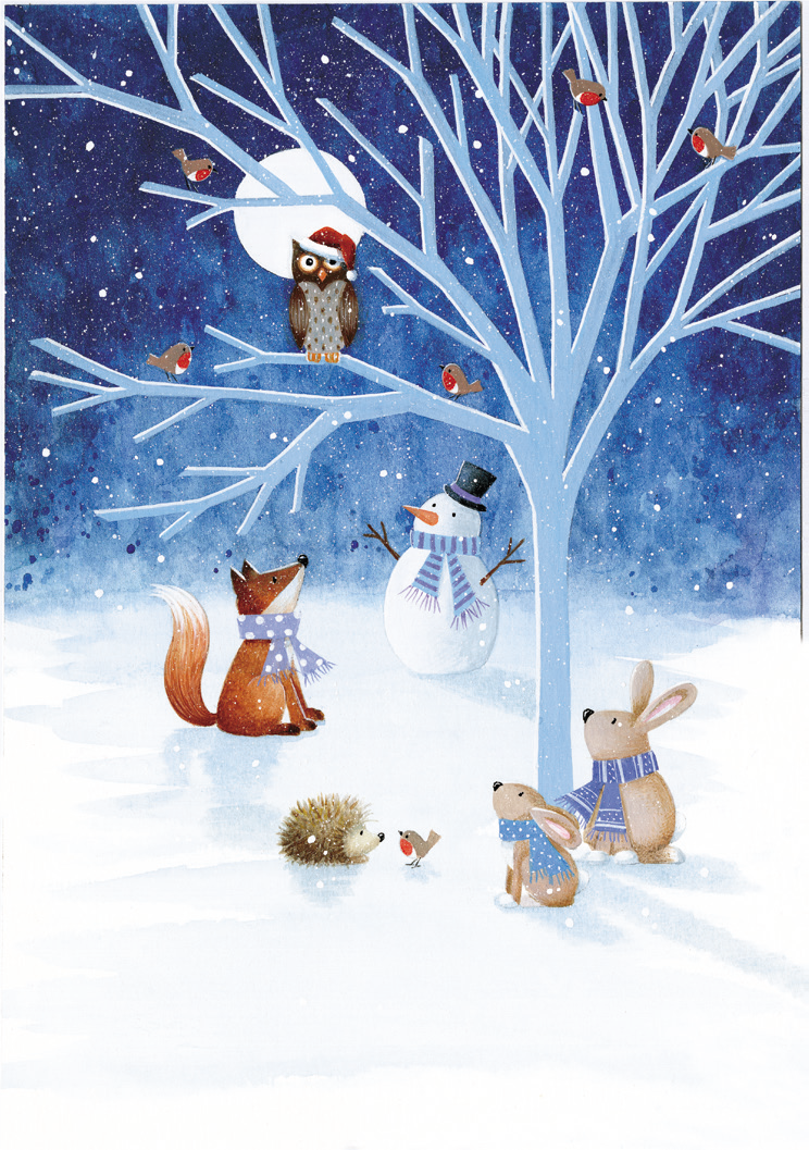 Christmas Card: Woodland Friends