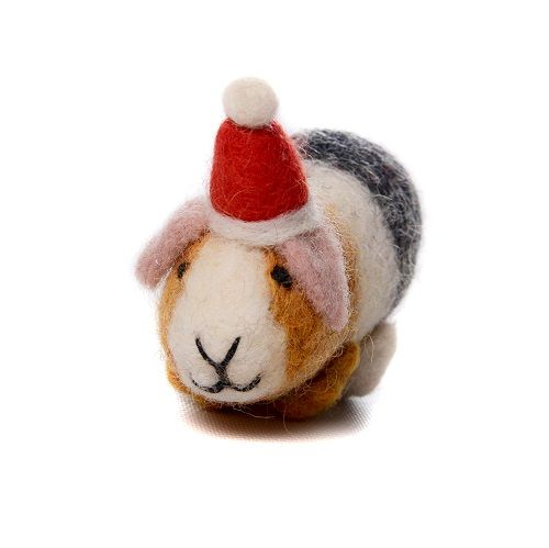 Felt Guinea Pig Wearing Hat