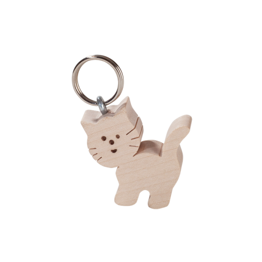 Wooden Keyring – Kitten