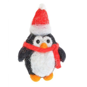Felt Penguin Wearing Scarf