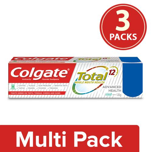 Colgate Total Advanced Health Anticavity Toothpaste, 3x120 g ()Multipack