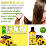 O4U Fresh, Natural & Organic raw unrefined cold pressed Sunflower oil for Hair, Skin and Face - 30 ml  (30 ml)
