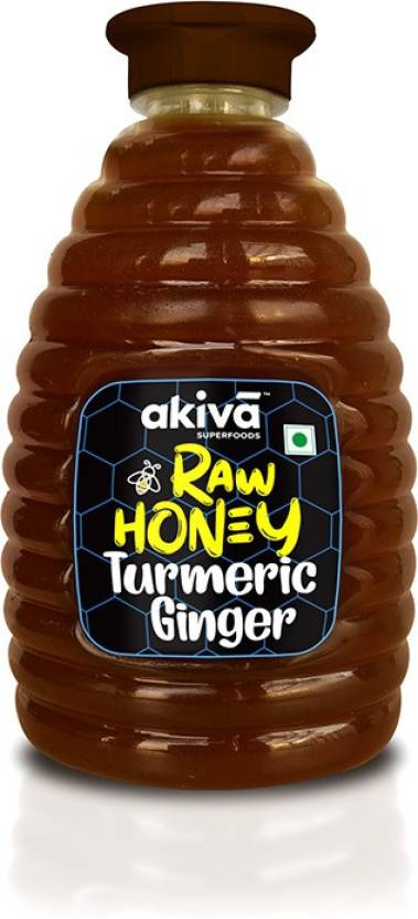 Akiva Superfoods Turmeric Ginger Raw Honey  (500 g)