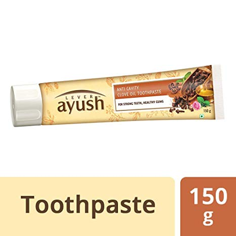 Lever Ayush Anti-Cavity Natural Ayurvedic Clove Oil Toothpaste, 150 g