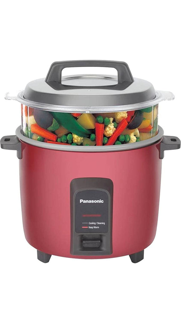 Panasonic SR-Y18FHS(E) 4.4-Litre Automatic Rice Cooker (Red)
