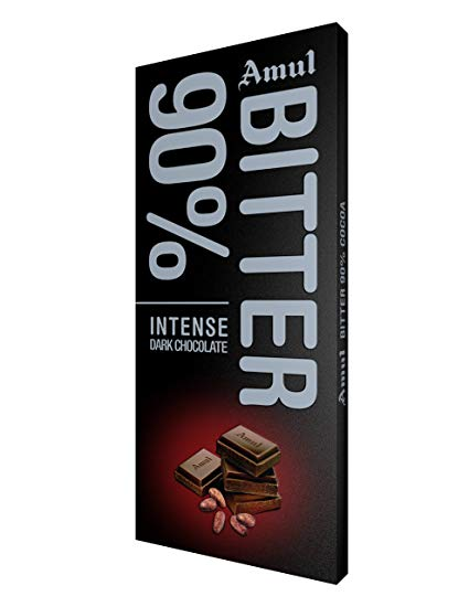 Amul Chocolate - 90% Bitter, 150 g