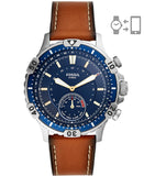 Fossil Garrett Hybrid Analog Blue Dial Men's Watch-FTW1191