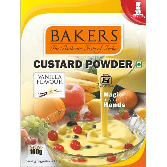Bakers Custard Powder Vanilla Flavour 100gm