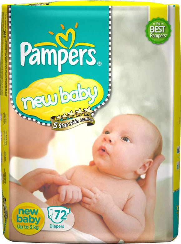 Pampers Active Baby Diapers - New Born  (72 Pieces)
