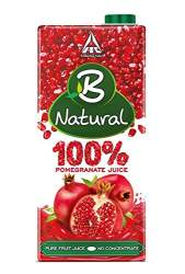 B Natural 100% Pure Pomegranate Juice 1000ml